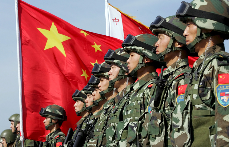 Chinese soldiers seen during Russia-China joint drills (archive)