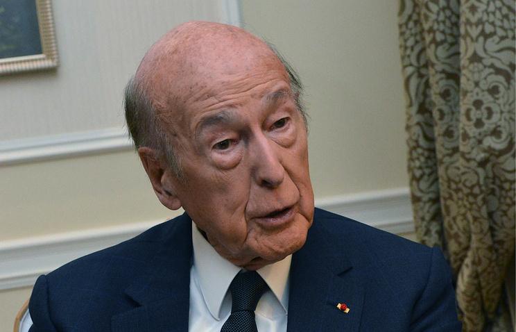 France's former President Valery Giscard d'Estaing