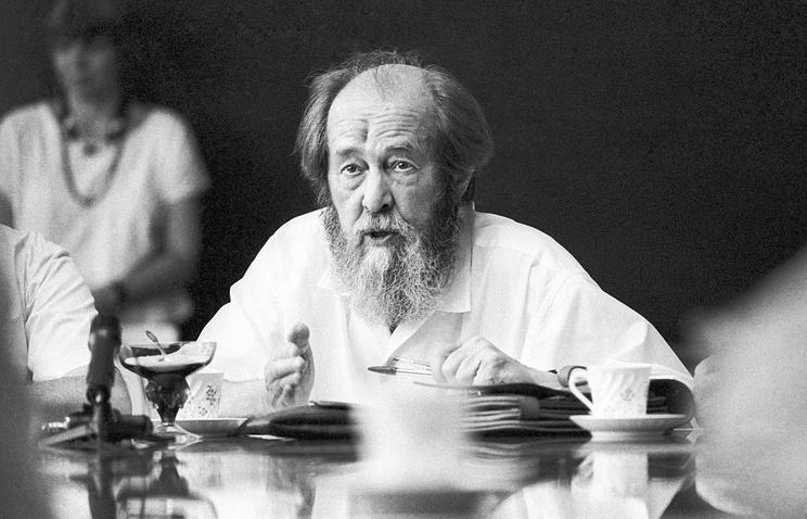 Russian writer Alexander Solzhenitsyn