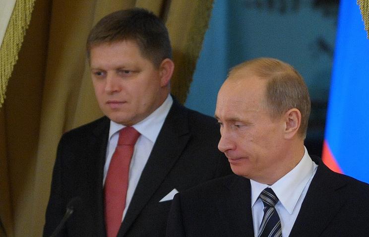 Vladimir Putin and Robert Fico (archive)