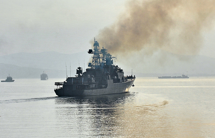 Russia's Pacific Fleet ship