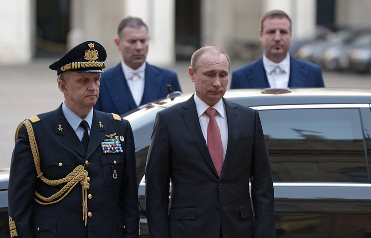 Russian President Vladimir Putin in Italy
