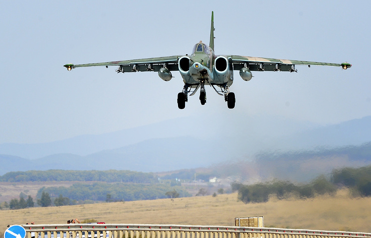 Su-25 attack aircraft