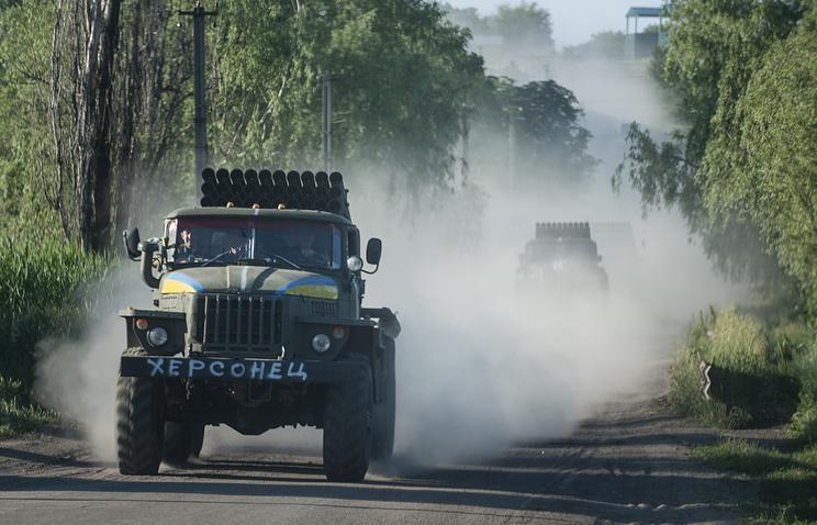Ukrainian Grad multiple launch systems