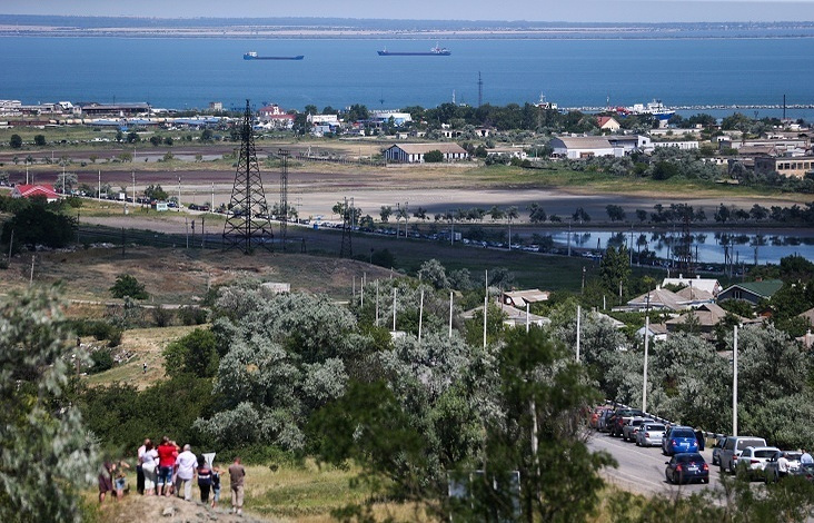 View over Kerch Strait