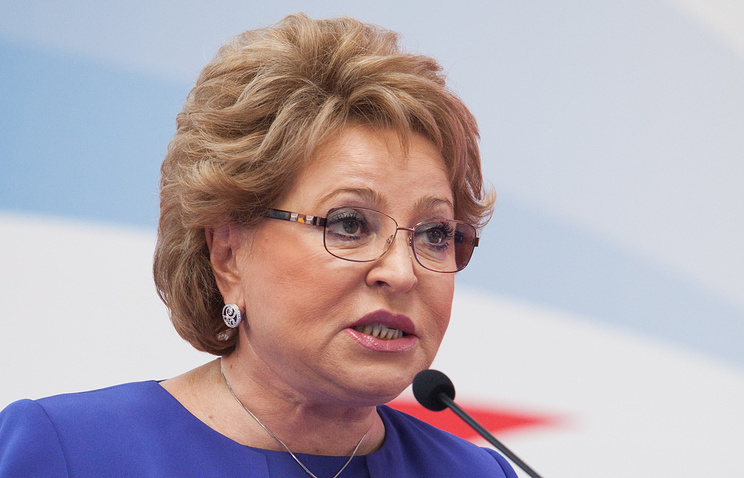 Valentina Matviyenko, the speaker of the Russian Federation Council