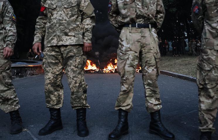 Members of Right Sector in Kiev