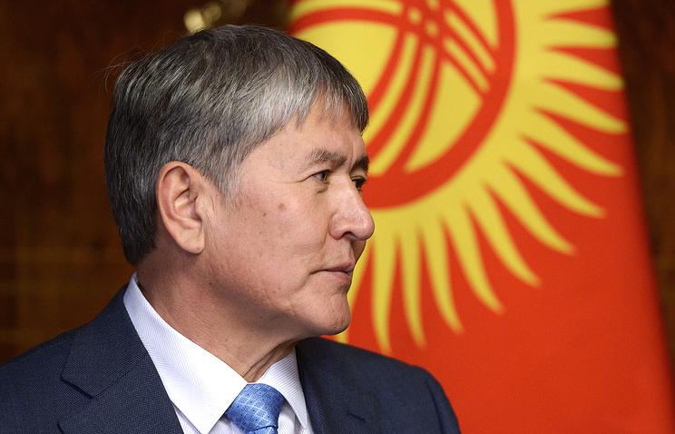 Kyrgyzstan's President Almazbek Atambayev