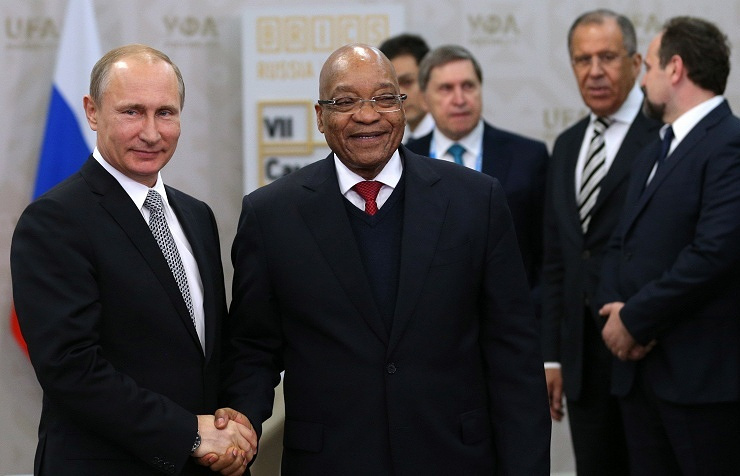 Vladimir Putin and Jacob Zuma