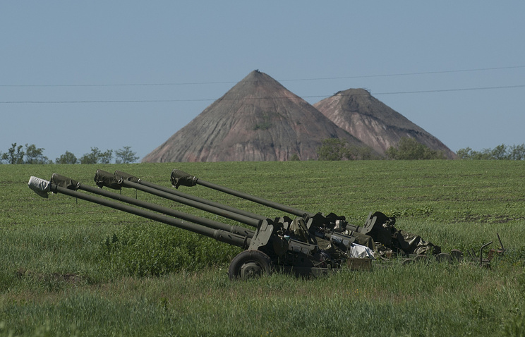 Ukrainian howitzers (archive)