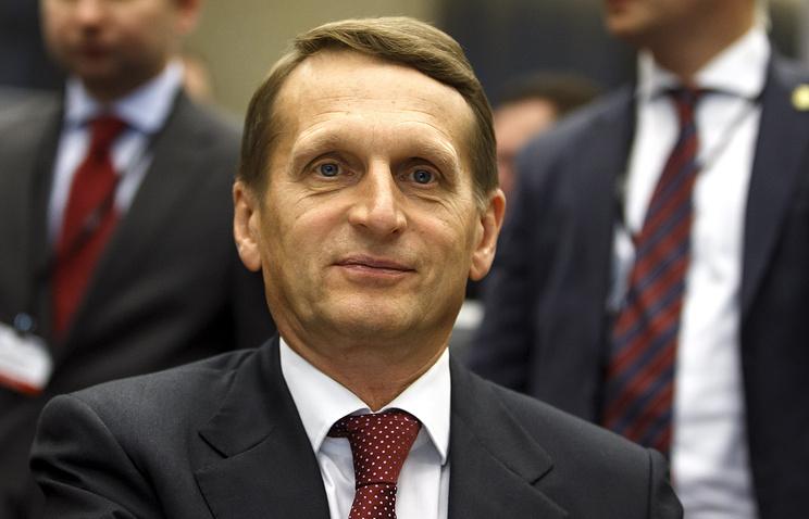Russian State Duma speaker Sergey Naryshkin