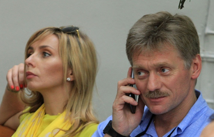 Dmitry Peskov and Tatyana Navka