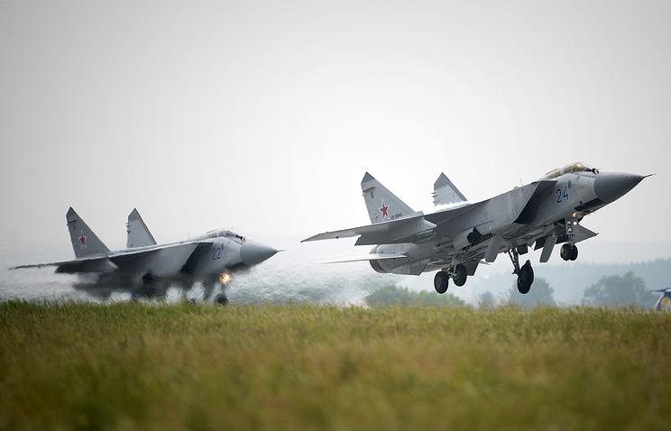MiG-31 interceptors