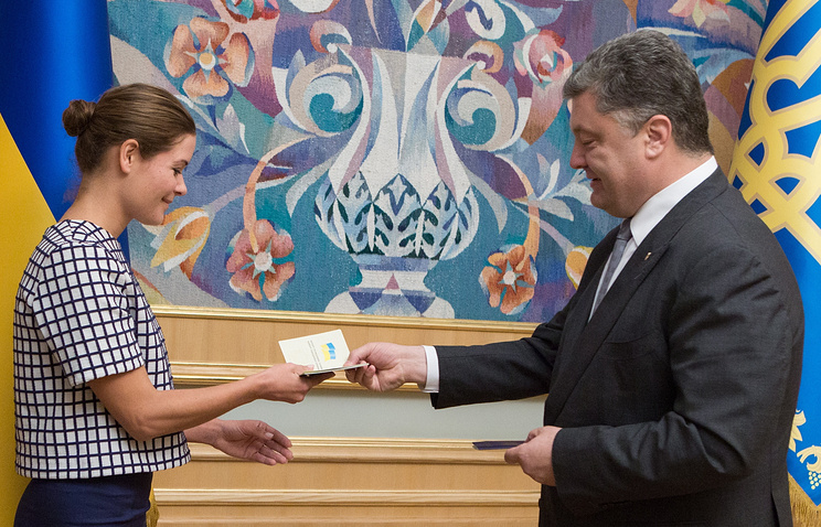 Maria Gaidar and Petro Poroshenko