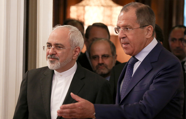 Russian Foreign Minister Sergey Lavrov and his Iranian counterpart Javad Zarif