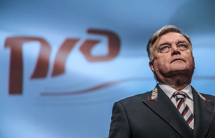 Russian Railways CEO Vladimir Yakunin