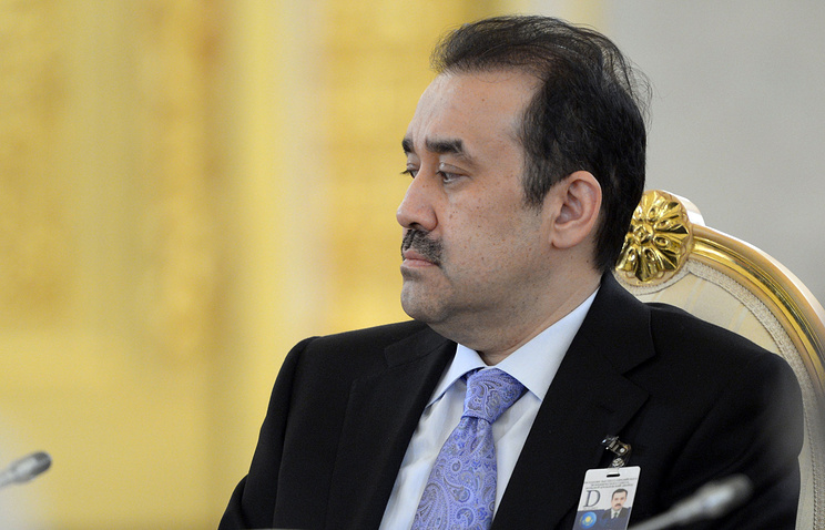 Kazakhstan's Prime Minister Karim Masimov