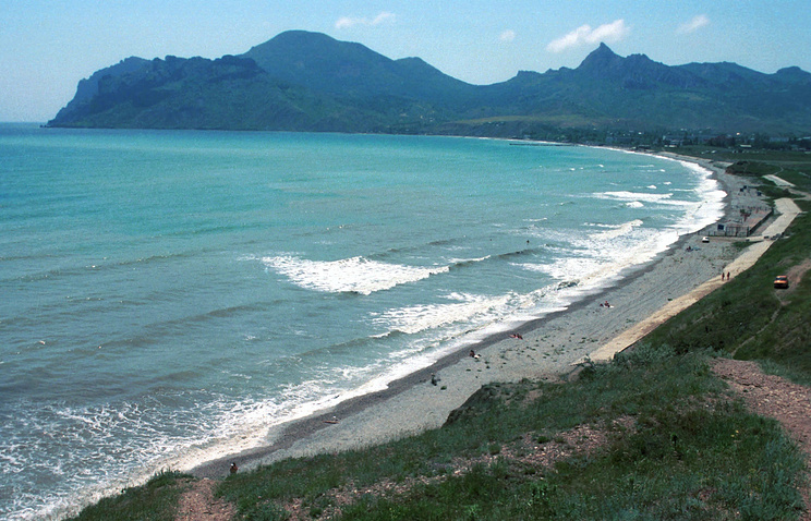 A beach in the township of Koktebel (archive)