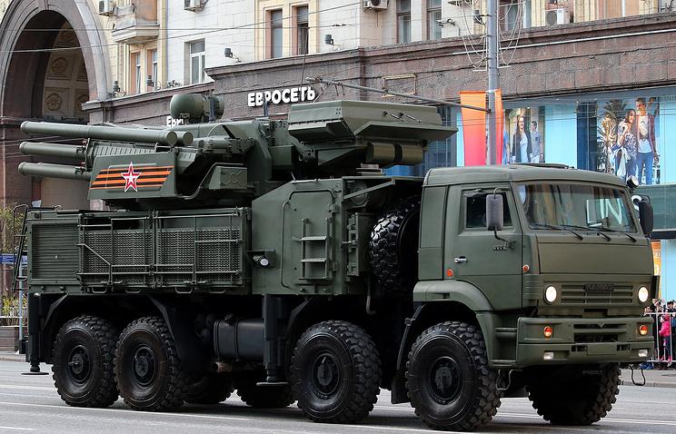 Pantsir-S1 anti-aircraft artillery weapon systems