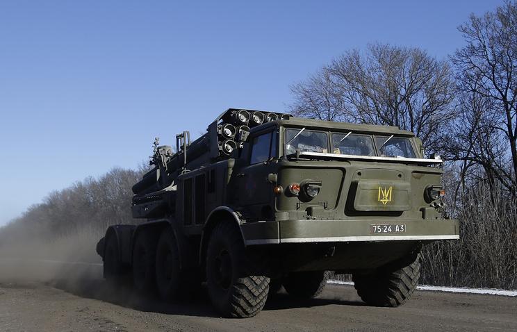 Ukraine's Smerch multiple rocket launcher (archive)