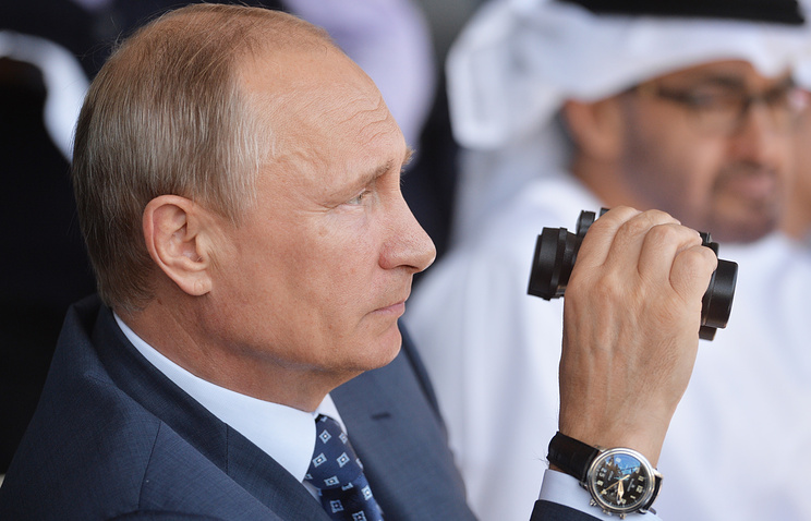 Russian President Vladimir Putin at MAKS-2015 International Air Show