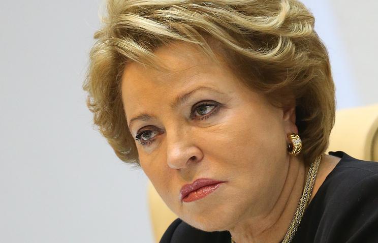 Russian Federation Council speaker Valentina Matviyenko