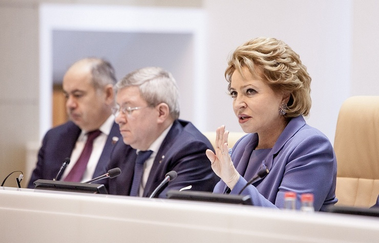 Russia's upper house speaker Valentina Matviyenko