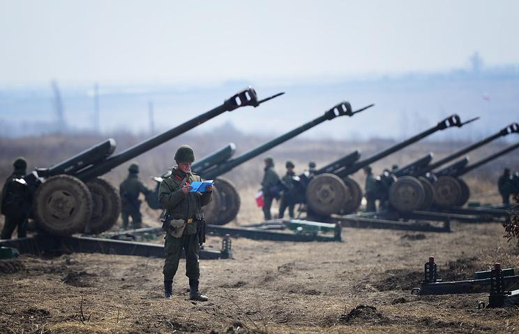 D-30 howitzers
