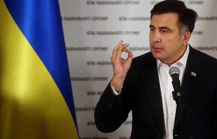 Odessa region governor Mikhail Saakashvili