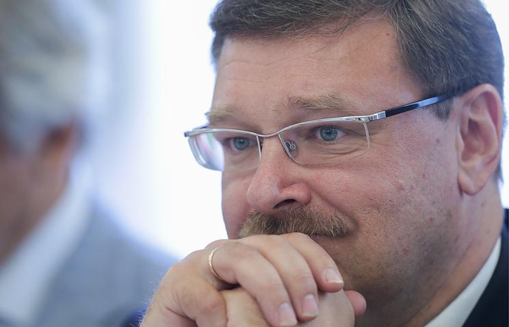 Russia's International Affairs Committee chairman Konstantin Kosachev