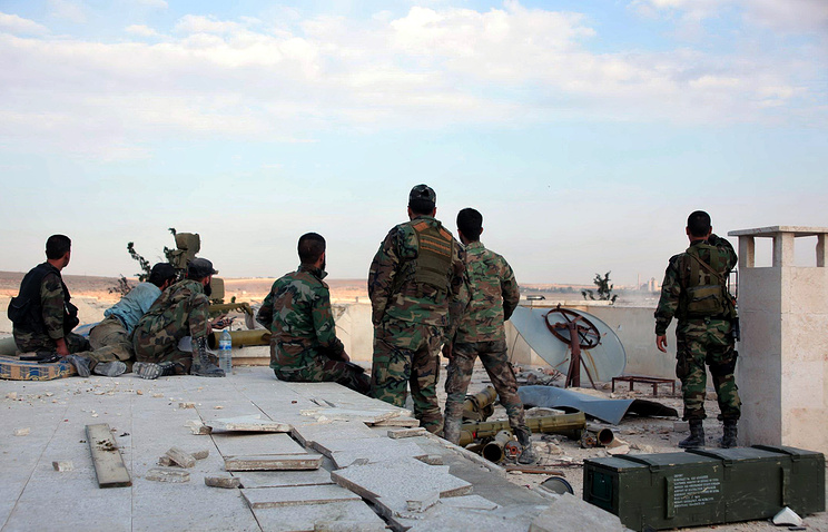 Syrian government soldiers