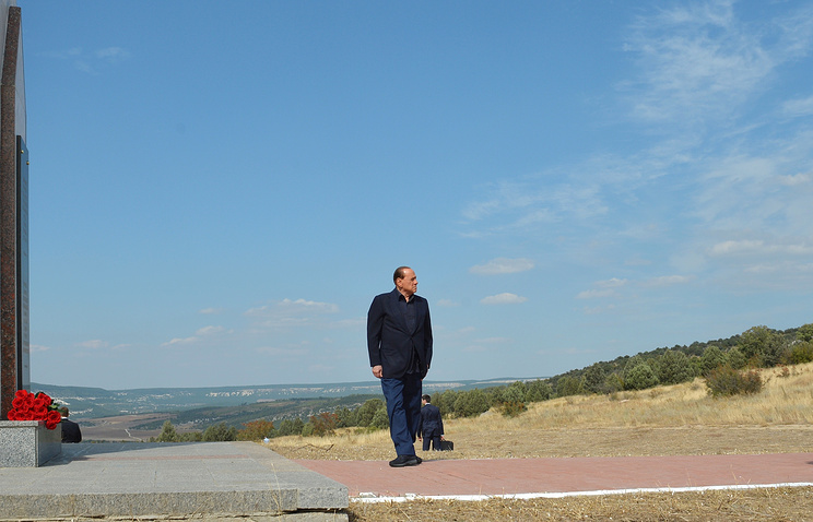 Former Italian Prime Minister Silvio Berlusconi in Crimea