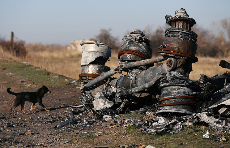 The site of MH17 crash in Ukraine