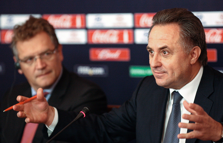 Russian Sports Minister Vitaly Mutko and Jerome Valcke