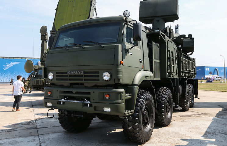 Pantsir-S1 air defense missile-gun complex vehicle