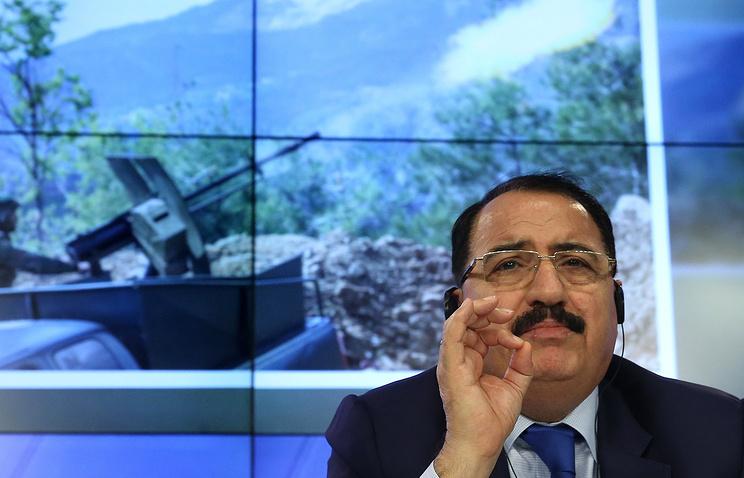 Syria's Ambassador to Russia Riad Haddad