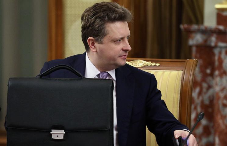 Russia's Minister of Transport Maxim Sokolov