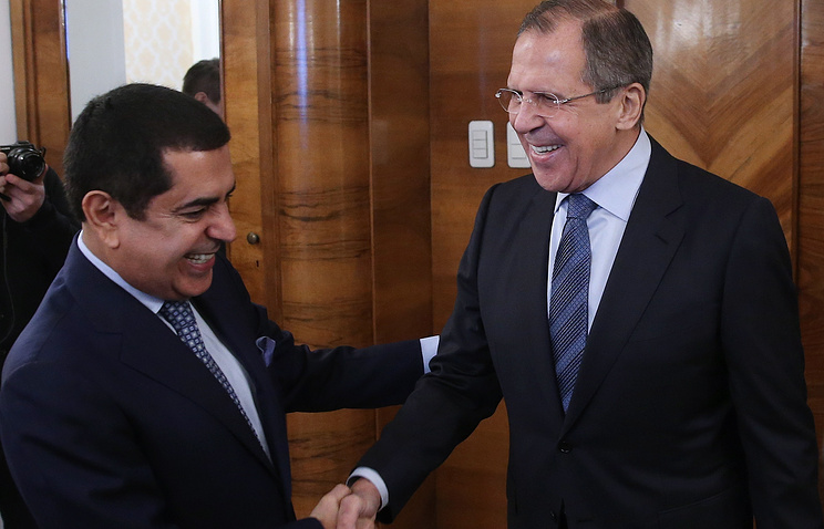 UN High Representative for the Alliance of Civilizations Nassir Abdulaziz Al-Nasser and Russian Foreign Minister Sergey Lavrov