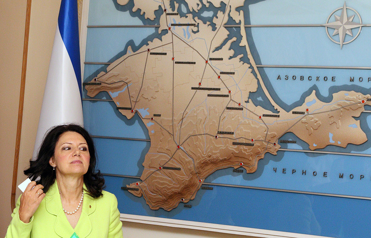 Sanda Raskovic Ivic, leader of the Democratic Party of Serbia, visiting Crimea's State Council