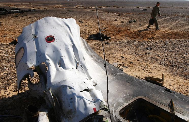 Kogalymavia Flight 9268 crash site in Egypt