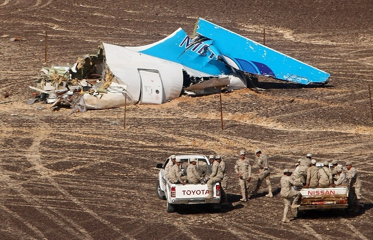 A321 debris in Egypt