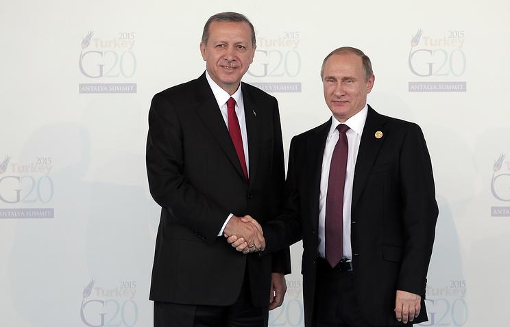 Turkish President Recep Tayyip Erdogan and Russian President Vladimir Putin