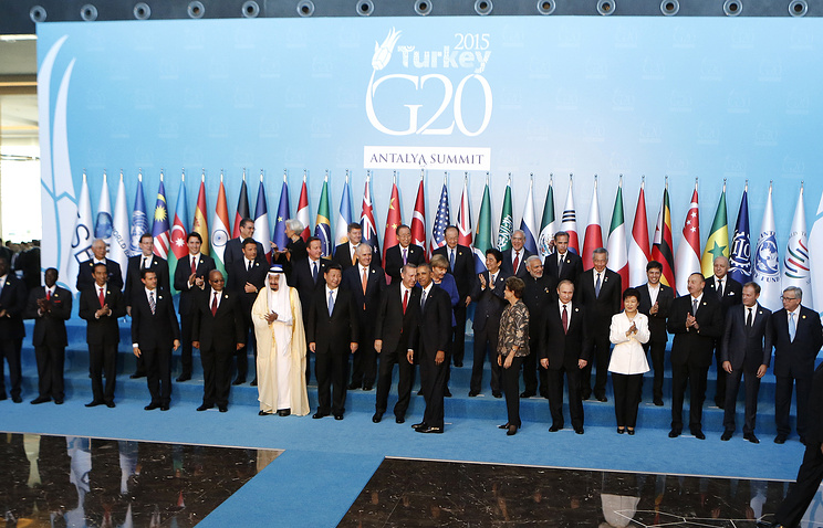 World leaders at G20 summit in Antalya