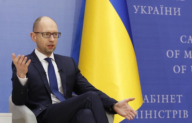 Ukraine's Prime Minister Arseniy Yatsenyuk