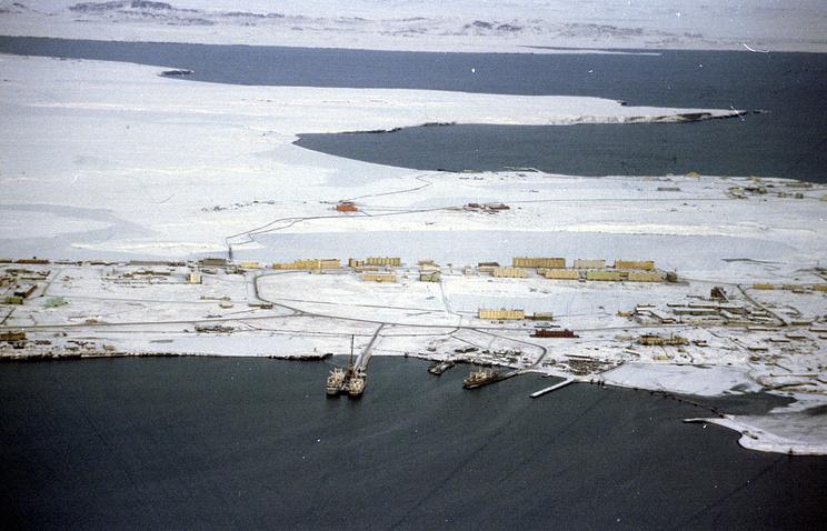 The settlement of Belushya Guba on the Novaya Zemlya archipelago (archive)