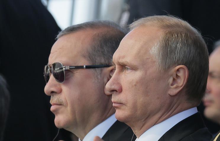 Turkish President Recep Tayyip Erdogan and Russia's Vladimir Putin