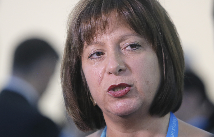 Ukraine's Finance Minister Natalie Jaresko