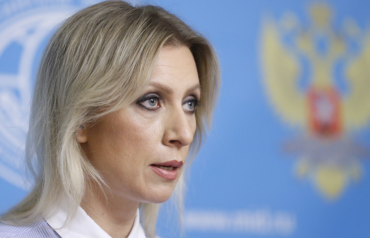Russian Foreign Ministry spokesperson Maria Zakharova