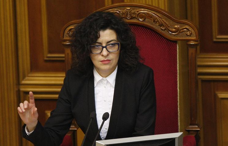 Deputy speaker of Ukraine's parliament Oksana Syroed