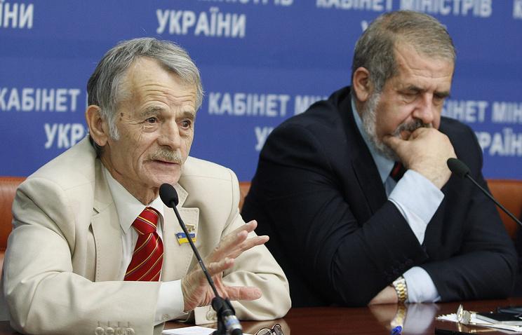 Mejilis leaders Mustafa Dzhemilev and Refat Chubarov
